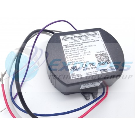 Thomas Research 12-36V Dimmable LED Driver LED25W-36-C0700-D Constant Current